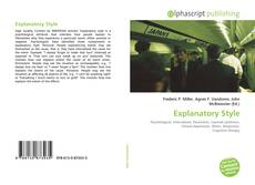 Bookcover of Explanatory Style