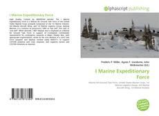 Portada del libro de I Marine Expeditionary Force