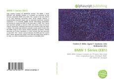 Обложка BMW 1 Series (E81)