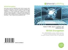 Bookcover of 40-bit Encryption