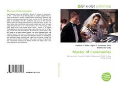 Bookcover of Master of Ceremonies