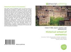 Bookcover of Historical school of economics