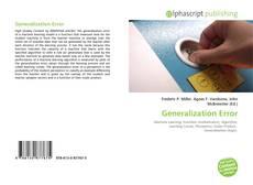 Capa do livro de Generalization Error