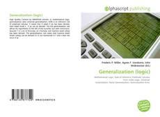 Portada del libro de Generalization (logic)