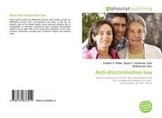 Anti-discrimination law的封面