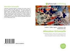 Bookcover of Allocation Universelle