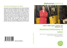 Bookcover of American Federation of Labor