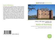 Bookcover of Battle of Mühlberg