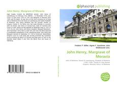 Buchcover von John Henry, Margrave of Moravia