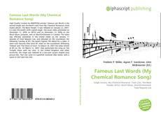 Famous Last Words (My Chemical Romance Song)的封面