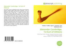 Bookcover of Alexander Cambridge, 1st Earl of Athlone