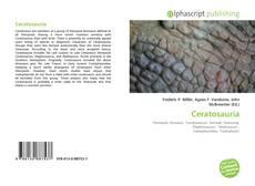 Ceratosauria kitap kapağı