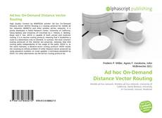Ad hoc On-Demand Distance Vector Routing kitap kapağı