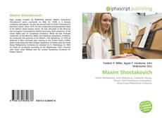 Bookcover of Maxim Shostakovich