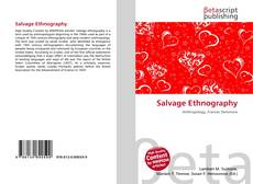 Bookcover of Salvage Ethnography