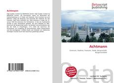 Bookcover of Achtmann