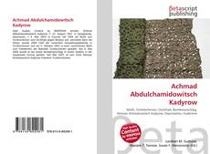 Bookcover of Achmad Abdulchamidowitsch Kadyrow
