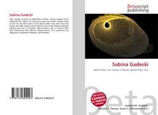 Copertina di Sabina Gadecki