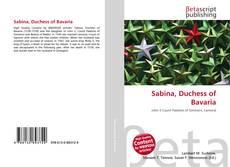 Buchcover von Sabina, Duchess of Bavaria