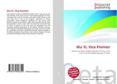 Wu Yi, Vice Premier的封面