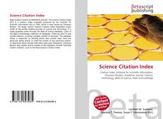 Bookcover of Science Citation Index