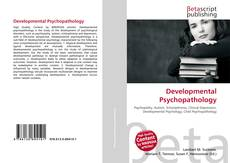 Bookcover of Developmental Psychopathology