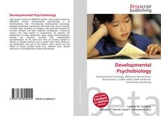 Bookcover of Developmental Psychobiology