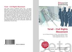 Bookcover of Ya'ad – Civil Rights Movement