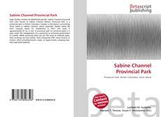 Portada del libro de Sabine Channel Provincial Park