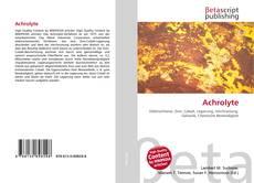 Capa do livro de Achrolyte