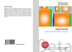 Bookcover of Style Guide