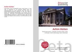 Bookcover of Achim Hütten