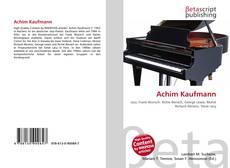 Achim Kaufmann的封面