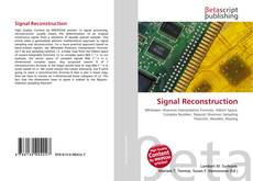 Bookcover of Signal Reconstruction