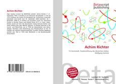Achim Richter kitap kapağı