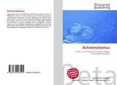 Bookcover of Achromatismus
