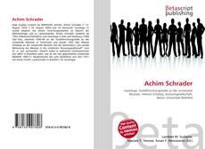 Portada del libro de Achim Schrader