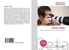 Bookcover of Achim Tacke