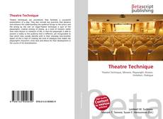 Theatre Technique kitap kapağı