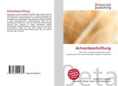 Bookcover of Achsenbeschriftung