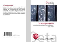 Bookcover of Achsensymmetrie