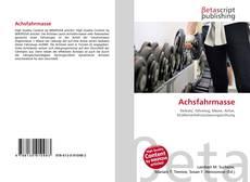 Capa do livro de Achsfahrmasse