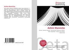 Achim Wannicke kitap kapağı