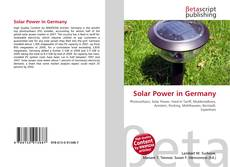 Portada del libro de Solar Power in Germany