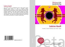 Bookcover of Sabine Baeß