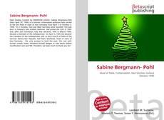 Portada del libro de Sabine Bergmann- Pohl