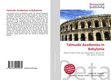 Bookcover of Talmudic Academies in Babylonia