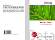 Bookcover of Sabine Dünser