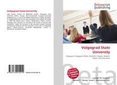 Bookcover of Volgograd State University