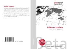 Bookcover of Sabine Klaschka